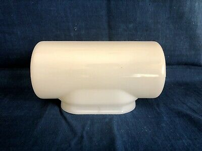 Vintage Art Deco White Milk Glass Wall Sconce Bathroom Hall Light Shade Globe