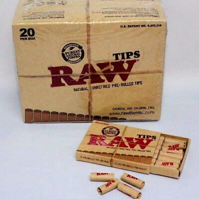 Raw Tip Natural Unrefined Pre-Rolled Tips 21 Tips Per Box~126 Total~6 Boxes
