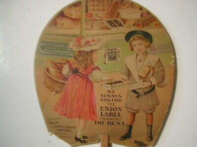 Early 20th century Bakery & Confectionery Workers Union hand held fan