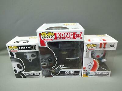 Funko Pop Movies Lot Scream Ghost Face 51 Kong Skull Island 388 It Pennywise 55