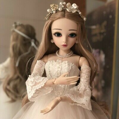 BJD 1/3 BJD Doll Female Lady Free Eyes + Makeup + Pretty Wedding Dress Xmas Gift
