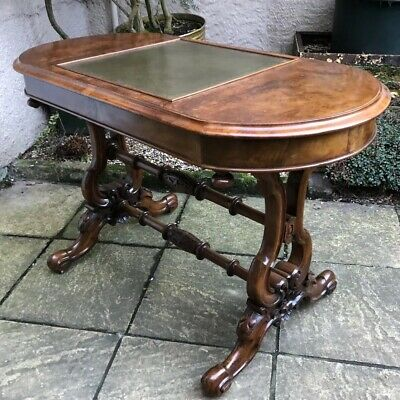 Very Rare Robert Strahan Victorian Walnut Games Table  2 Man Delivery