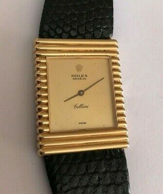 ROLEX CELLINI VINTAGE 18K SOLID GOLD Manual Winding Men's Large Watch Rare
