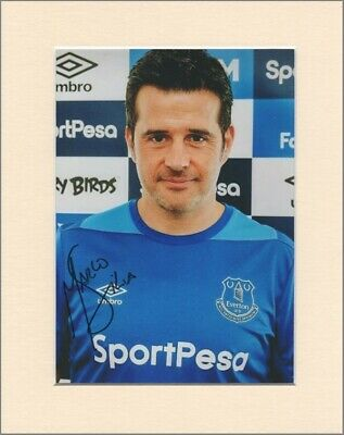 "Marco Silva Everton FC Manager Original Signed 10x8"" Mounted Autograph Photo COA"