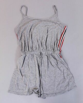 976a2d0d93748 boohoo Women's Plus Keira Sports Stripe Playsuit SV3 Gray Size US:12 NWT
