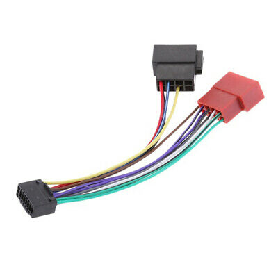 Car Stereo Radio Plug 16 Pin  ISO Wiring Harness Adapter Connector For KENWOOD