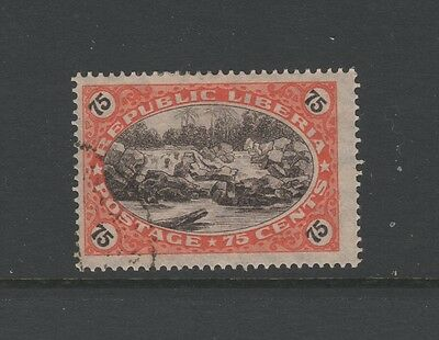 LIBERIA 1921 75c SEPIA & RED ST PAUL'S RIVER - Nice Used