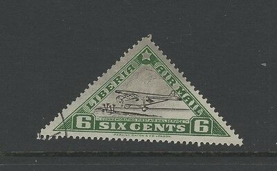 LIBERIA 6c BLACK & GREEN AIR MAIL Nice Used