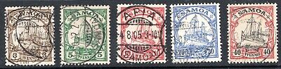 Germany - Samoa - Early  Issues - Yachts  - Used Nh