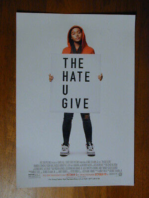 """The Hate U Give 2018 Movie Poster 13""""X 19"""" New Rolled  Advance Release Version"""