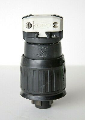 Hubbell Hubbellock 21415B 30amp 600vac Plug with Boot