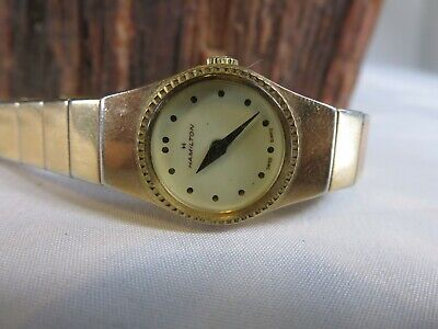 Vintage Ladies Hamilton Gold Tone Quartz Watch
