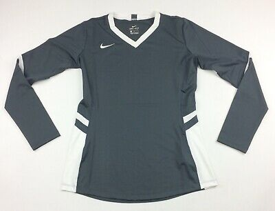 New Nike Vapor Pro Long Sleeve Volleyball Jersey Women/'s Medium 915025 Black