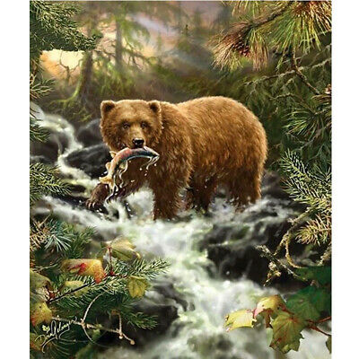 UK Full Drill, Square Diamonds , Diamond Painting Bear Kit