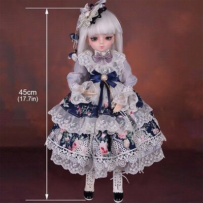 Fashion 1/4 BJD Doll Beautiful Pretty BJD Doll For Baby Girl Birthday Xmas Gift