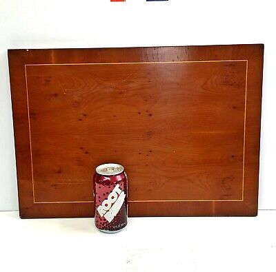 Antique Inlaid Yew Wood Board 13.5x19.5 table top/serving tray/lid/door inlay