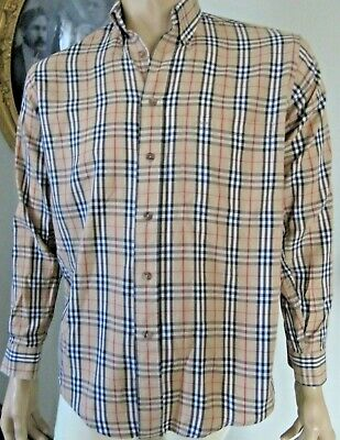 ff6b4c1709 Vintage Burberry Long Sleeve Nova Check Button Down Shirt Men's SZ  S/Women's ...