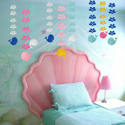Bedroom Brithday Party Supplies Decoration Whale Paper Hanging Banner Decor LJ