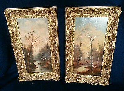 Pair of 19th Century European Oil on Board Landscapes