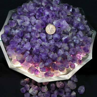 500CT100%Natural Mixed Lots of Unsearched Natural Amethyst Vug Gemstone Gift YAB