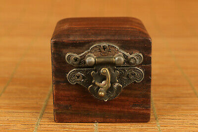 chinese old wood hand carved jewel ring box unique collectable