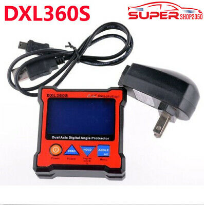 DXL360S GYRO +GRAVITY 2 in 1 Digital Protractor Inclinometer Dual Axis Level Box