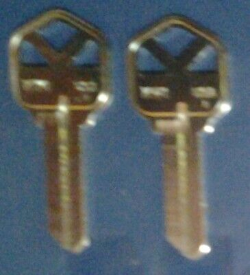 2 key blanks for Kwikset, KW1, 5 pin, solid brass blank, Ilco Taylor brand
