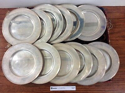 "GORHAM 12 sterling silver BREAD BUTTER 6 1/4"" Plates"