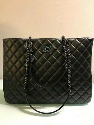 d0990d04edf9 CHANEL VINTAGE TWIN Top Handle Flap Bag Quilted Lambskin Medium ...