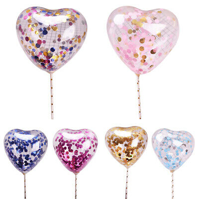 2X(5 Ensembles/Lot Ballons D'Amour Transparents Boule Bobo de 5 Pouces PourI6S5)