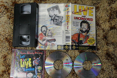 Kevin Bloody Wilson Let Loose Live In London Cd + Live And Uncensored Vhs Video