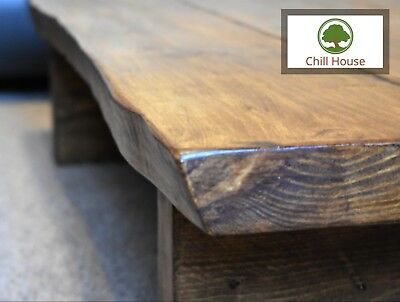 Live Edge Coffee Table Rustic Tudor Oak Solid Wood Chunky Low