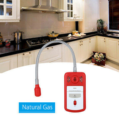 New Combustible Gas Detector Gas Leak Tester with Sound Lights Alarm Sniffer UK