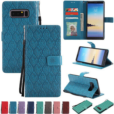 For Samsung Galaxy A50 A30 A20 Shockproof Flip Wallet Strap Magnetic Case Cover