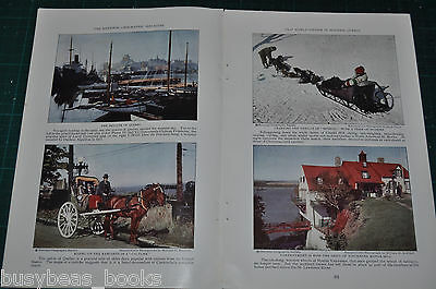 1930 magazine article QUEBEC CITY, Info, history, color photos