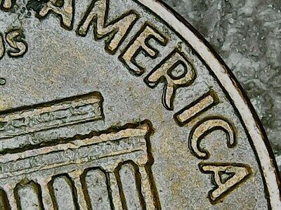 """1969-D Lincoln Cent, Double """"America""""."""