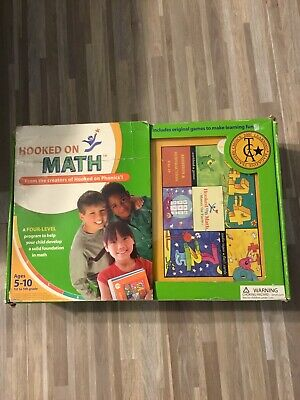 HOOKED ON MATH Set Ages 5 To 10 Cassettes And Cards