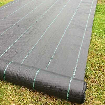 3m x 50m 100gsm  lined Ground Cover Weed Control Fabric Driveway membrane