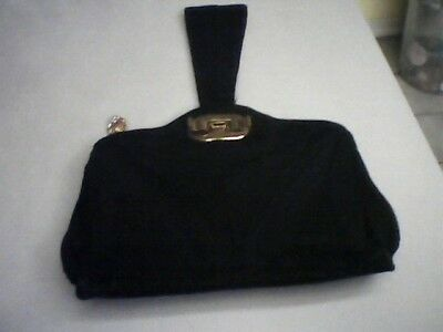 Gorgeous Vintage 1940's Corde Purse Unusual arm handle strap hardware!