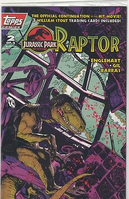 Topps Comics Jurassic Park #2 Comic Book NEW SEALED With Cards!