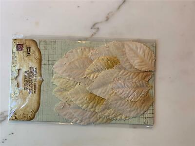 Prima Fabric Leaves – Shades Of Yellow