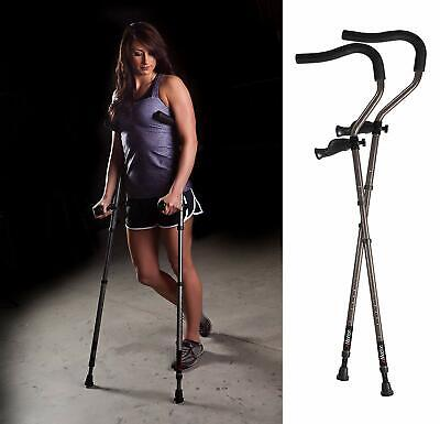 "Crutches Ergonomic DonJoy Rebound Forearm 1 Pair Short Height: 4'7""-5'7"" NEW"