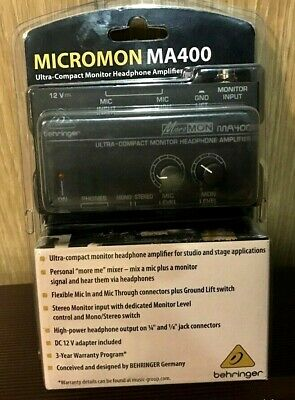 BEHRINGER MA400 Micro MON Ultra-Compact Monitor Headphone Amplifier