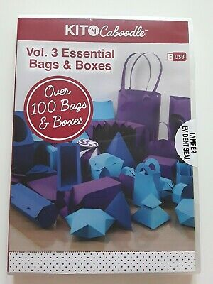 Kit N Caboodle Bags & Boxes USB Vol 3 ~ Scan N Cut ~ Over 100 designs