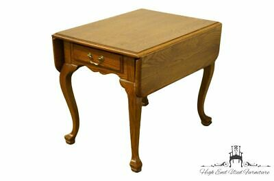 Handsome Appearance Helpful Ethan Allen Heirloom Nutmeg Maple Chairside Accent End Table W Magazine Rack..
