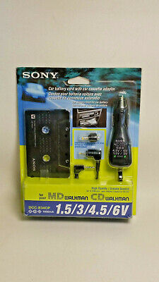Sony DCC-E34CP Car Connecting Kit Cassette Tape Adapter Charger NEW