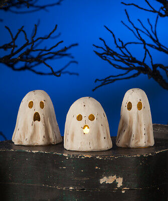 "Bethany Lowe Designs Halloween Set of 3 ""Ghoulish Ghost Luminary"" TJ7747"
