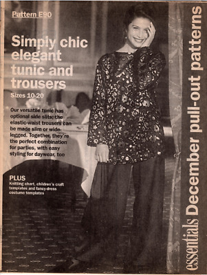 Vintage Essentials Tunic and Trousers Pattern E 90 - Sizes 10 to 20