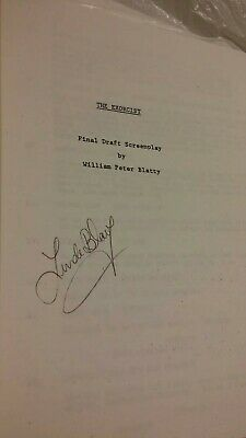 LINDA BLAIR Signed The Exorcist screenplay original movie script Hollywood