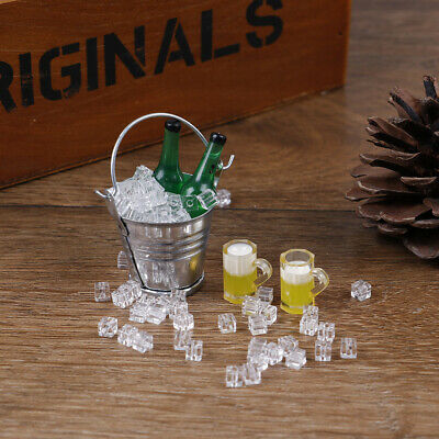 1:12 Dollhouse miniature iced beer set for doll house decoratiQY